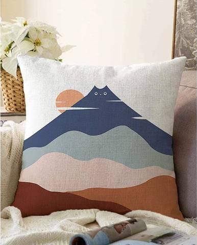 Obliečka na vankúš s prímesou bavlny Minimalist Cushion Covers Kitty Hill, 55 x 55 cm
