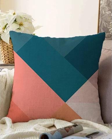 Obliečka na vankúš s prímesou bavlny Minimalist Cushion Covers Triangles, 55 x 55 cm