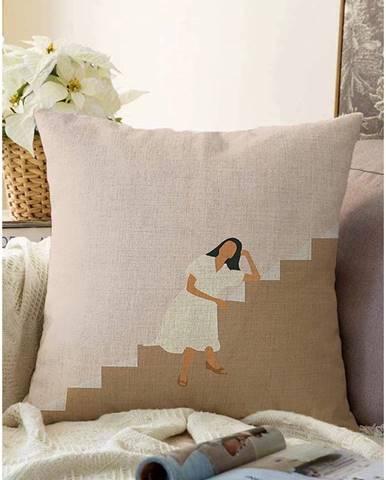 Obliečka na vankúš s prímesou bavlny Minimalist Cushion Covers Vacation, 55 x 55 cm