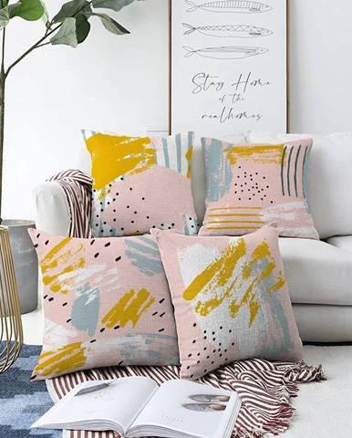Súprava 4 obliečok na vankúše Minimalist Cushion Covers Ive, 55 x 55 cm