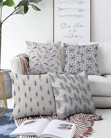 Súprava 4 obliečok na vankúše Minimalist Cushion Covers Mona, 55 x 55 cm