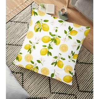 Obliečka na vankúš s prímesou bavlny Minimalist Cushion Covers Lemons, 70 x 70 cm