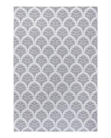 Čierno-sivý vonkajší koberec Ragami Moscow, 160 x 230 cm