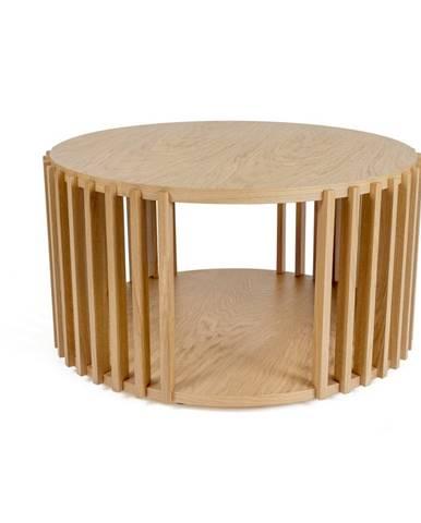 Konferenčný stolík z dubového dreva Woodman Drum, ø 83 cm