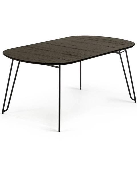 La Forma Čierny rozkladací jedálenský stôl La Forma Norfort, 140 x 90 cm