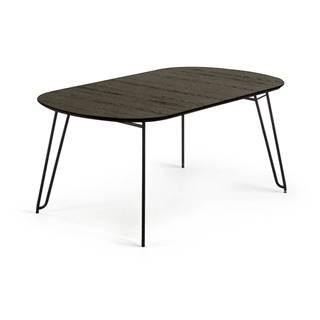 Čierny rozkladací jedálenský stôl La Forma Norfort, 140 x 90 cm