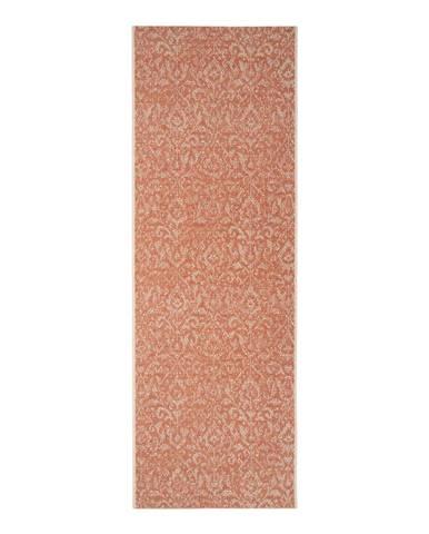 Oranžovo-béžový vonkajší koberec Bougari Hatta, 70 x 200 cm