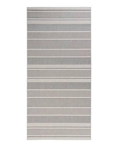 Sivý vonkajší koberec Bougari Strap, 80 x 200 cm