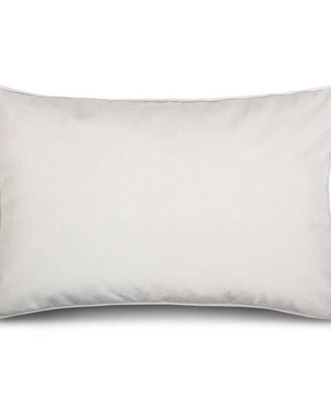 WeLoveBeds Biele obliečky na vankúš so zamatovým povrchom WeLoveBeds Sea Foam, 40 x 60 cm