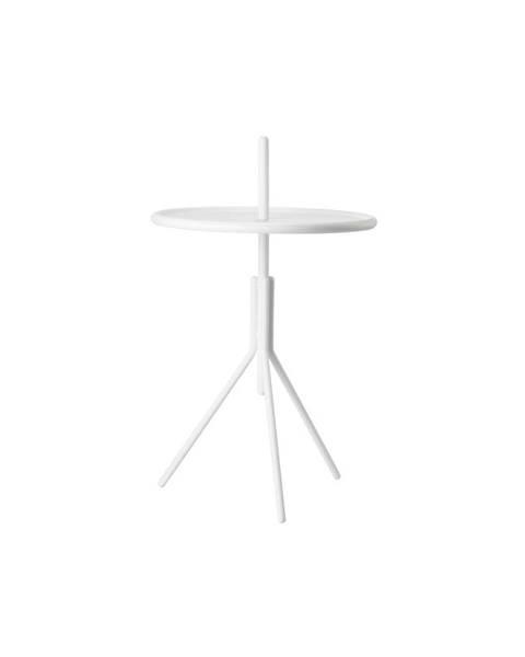 Zone Biely kovový odkladací stolík Zone Inu, ø 33,8 cm