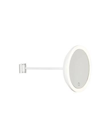 Biele nástenné kozmetické zrkadlo Zone Eve, ø 17,5 cm