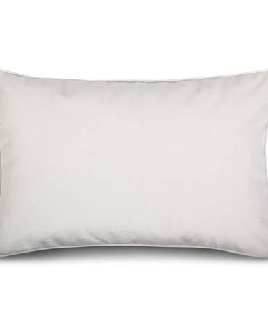 Biele obliečky na vankúš so zamatovým povrchom WeLoveBeds Sea Foam, 40 x 60 cm