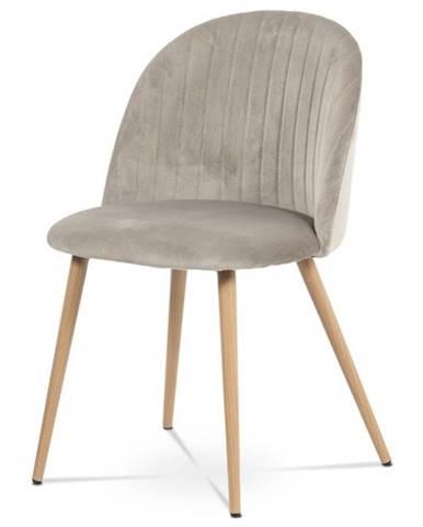 Jedálenská stolička KAISA dub/béžová