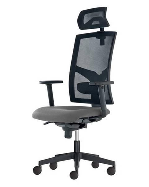 Sconto Kancelárska stolička PAIGE sivá