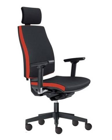 Kancelárska stolička JOHN čierna/červená