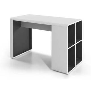 Písací stôl SIDON biela/antracit