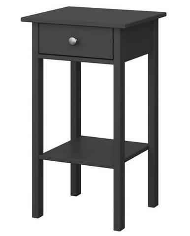 Nočný stolík TYLER čierna