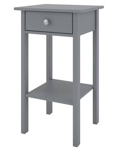 Nočný stolík TYLER sivá