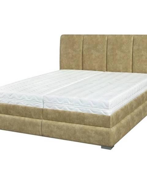 Sconto Posteľ BARI béžová, 180x200 cm, s matracom