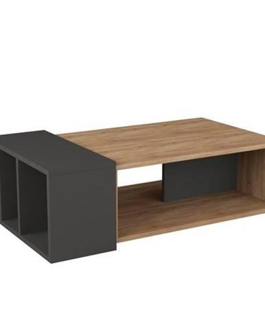 Konferenčný stolík ANITA dub/antracit