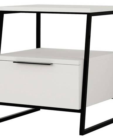 Nočný stolík PAL biela
