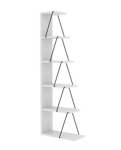 Regál/knižnica TLOS biela/čierna