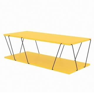 Konferenčný stolík LABRANDA žltá/čierna