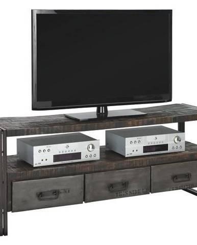 TV DIEL, mangové drevo, hnedá, 150/60/45 cm - hnedá