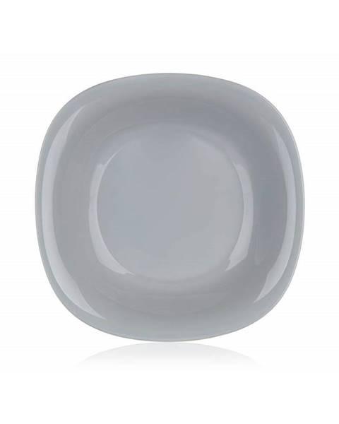 LUMINARC Luminarc Hranatý hlboký tanier CARINE 21 cm, 6 ks, sivá