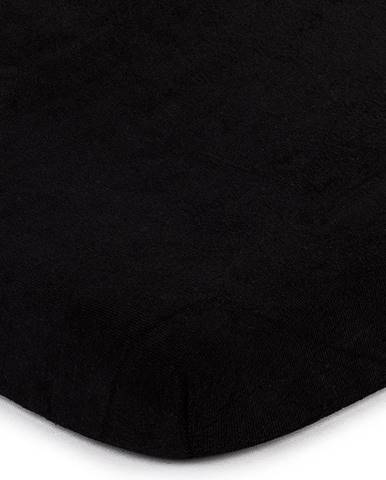 4home froté prestieradlo čierna, 160 x 200 cm
