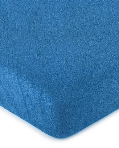 4Home froté prestieradlo tmavo modrá, 160 x 200 cm