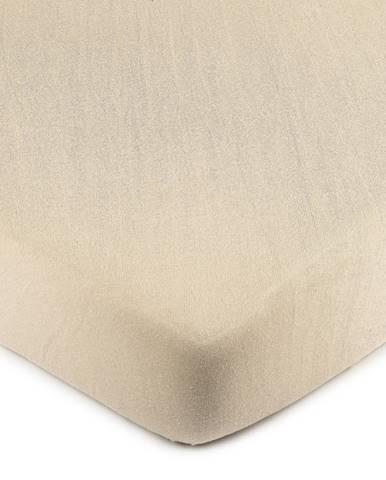 4Home jersey prestieradlo béžová, 180 x 200 cm