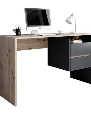 PC stôl dub artisan/grafit-antracit TULIO