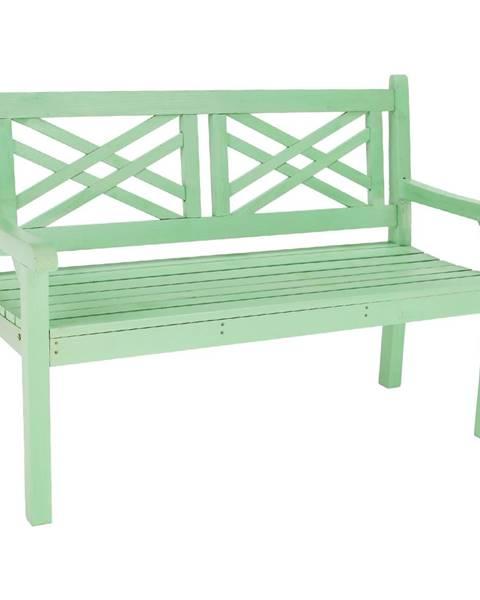 Kondela Drevená záhradná lavička neo mint 124 cm FABLA