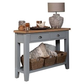 Konzolový stolík sivá/svetlý orech JEREVAN