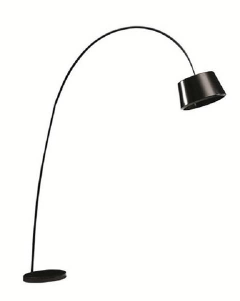 Kondela Oblúková lampa čierna/mramor CINDA TYP 18 F1090 poškodený tovar