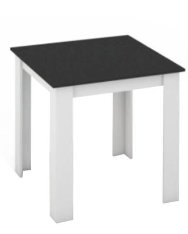 Jedálenský stôl biela/čierna 80x80 KRAZ poškodený tovar