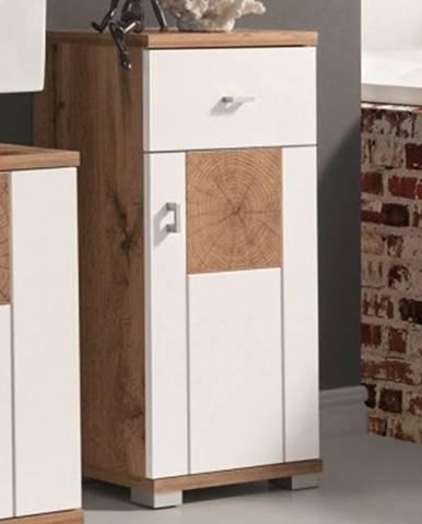 Kúpeľňová bočná skrinka Spalt, divoký dub wotan/biela%