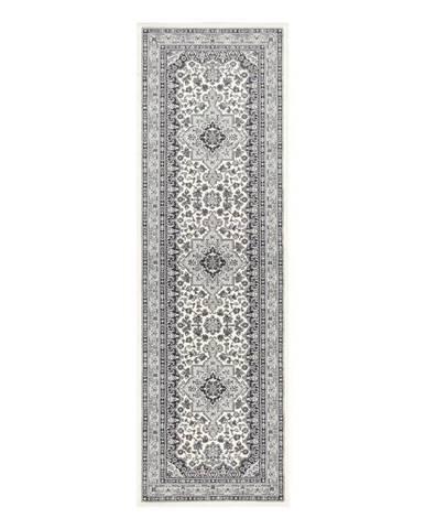 Krémovo-sivý koberec Nouristan Parun Tabriz, 80 x 250 cm