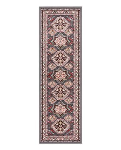 Sivý koberec Nouristan Saricha Belutsch, 80 x 250 cm