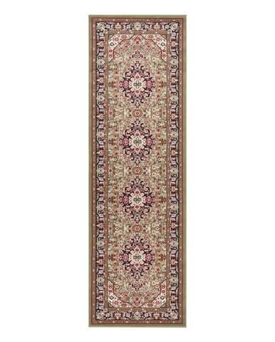 Zelený koberec Nouristan Skazar Isfahan, 80 x 250 cm