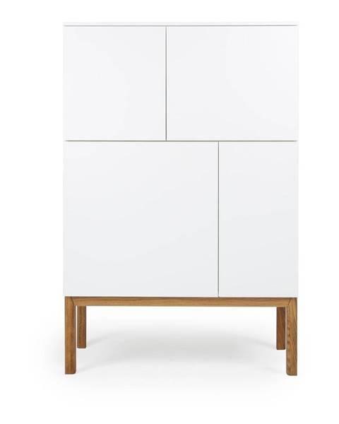 Tenzo Biela štvordverová skrinka Tenzo Patch, 92 x 138 cm