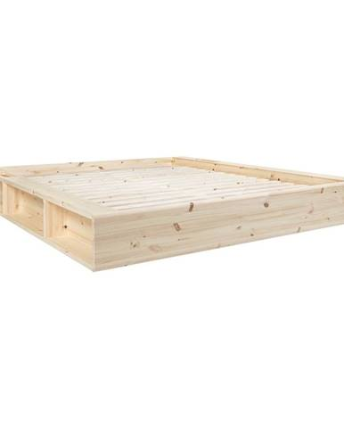 Dvojlôžková posteľ z masívneho dreva s úložným priestorom Karup Design Ziggy, 180 x200cm