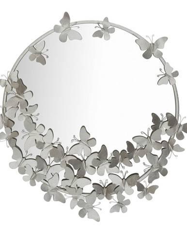 Nástenné zrkadlo v striebornej farbe Mauro Ferretti Round Silver, ø 74 cm