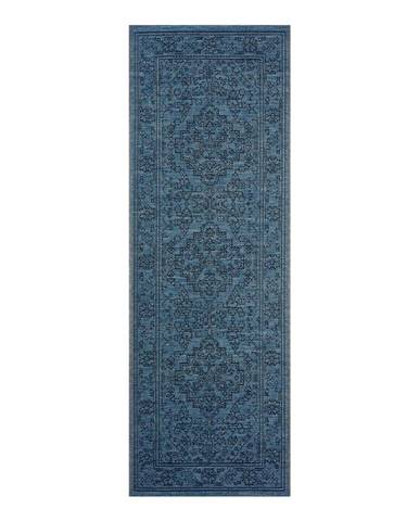 Tmavomodrý vonkajší koberec Bougari Tyros, 70 x 200 cm