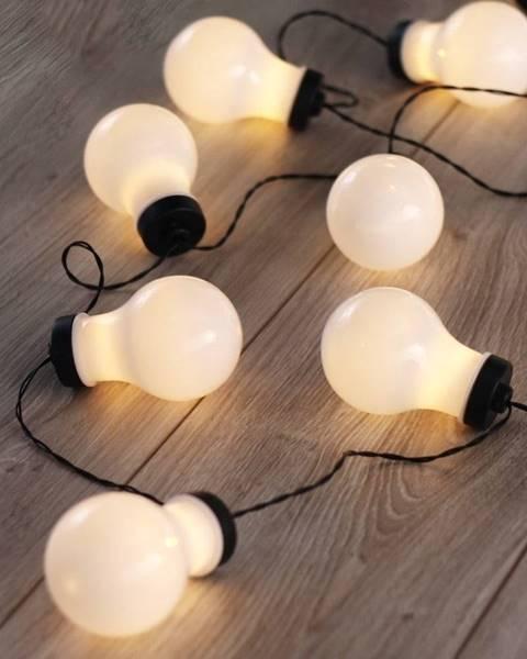 DecoKing Čierna LED svetelná reťaz v tvare žiaroviek DecoKing Bulb, 10 svetielok, dĺžka 2,2 m