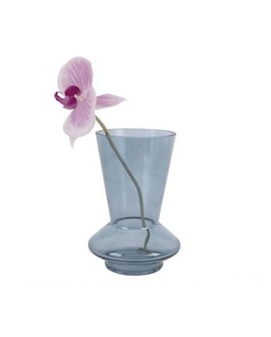 Modrá sklenená váza PT LIVING Glow, výška 17,5 cm