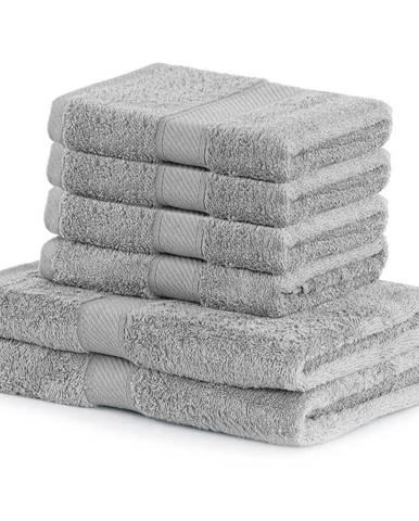 Set 2 sivých osušiek a 4 uterákov DecoKing Bamby