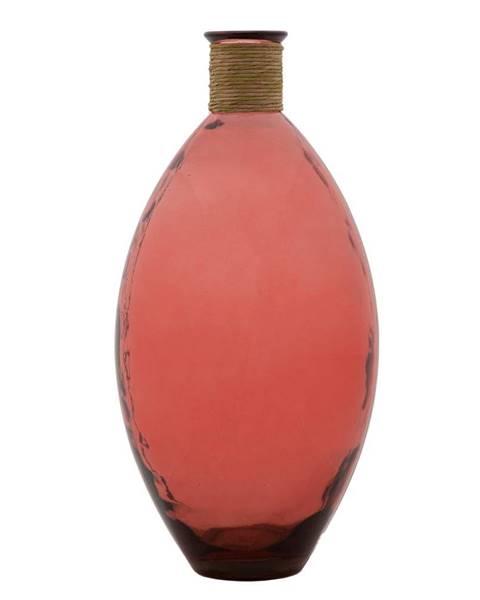Mauro Ferretti Ružová váza z recyklovaného skla Mauro Ferretti Rope Artemis