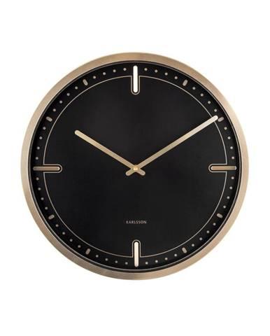 Čierne nástenné hodiny Karlsson Dots, ø 42 cm